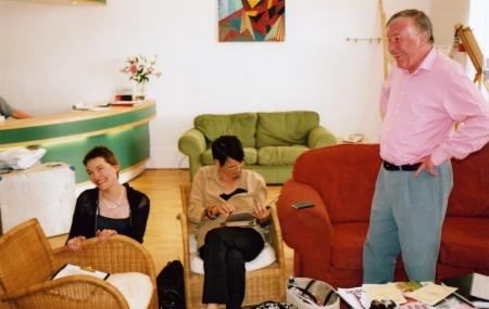 Tanya Ronder, Carolyn Seymour and Pennant Roberts at the studio