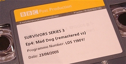 The front of the remastered BBC tape of Mad Dog