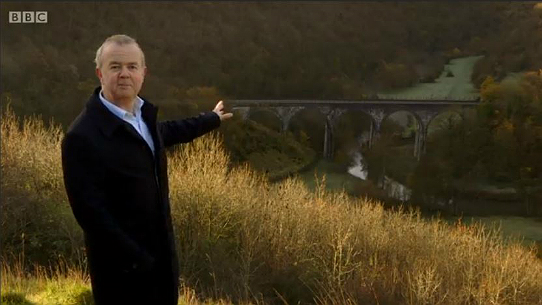 Ian Hislop introduces the setting from high above the Monsal Dale viaduct