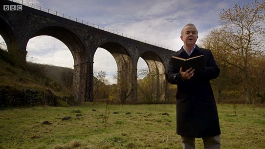 Ian Hislop reads from Ruskin's famous lament, in the heart of Monsal Dale