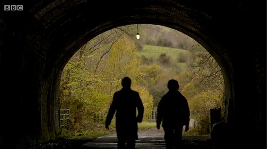 The entrance of the Headstock tunnel at Monsal Dale