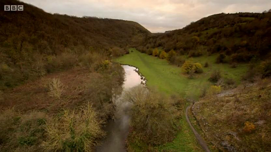 Monsal Dale as seen from the Monsal Viaduct