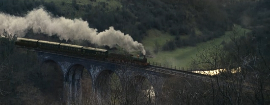 The Monsal viaduct as seen - CGI enhanced - in the 2010 film The Wolfman