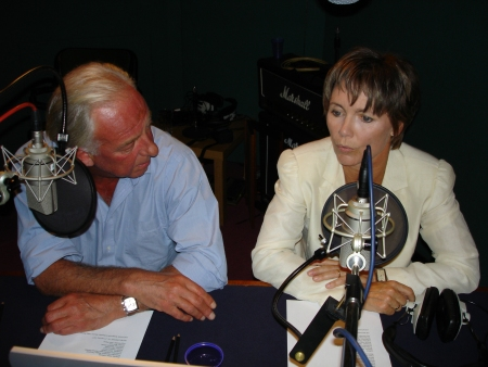 Peter Jefferies and Lucy Fleming prepare to record their episode commentary
