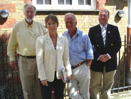 Tristan de Vere Cole, Lucy Fleming, Peter Jefferies and Stephen Dudley