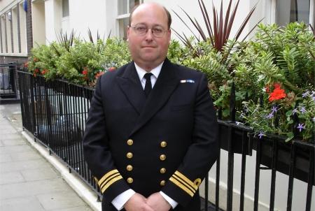 Survivors actor Stephen Dudley in naval uniform