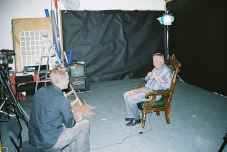 Pennant Roberts in the studio with interviewer Andy Priestner