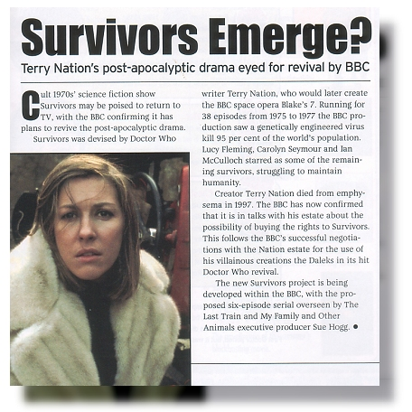 The 'Survivors Emerge?' report from Dreamwatch September 2006