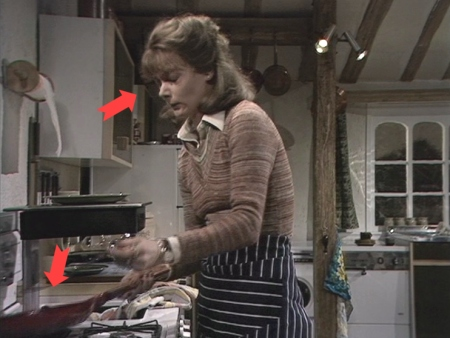 Abby cooks up bacon and eggs for her husband David at their family home