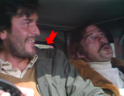 In the petrol tanker, Buckmaster thieves celebrate their (very short-lived) triumph