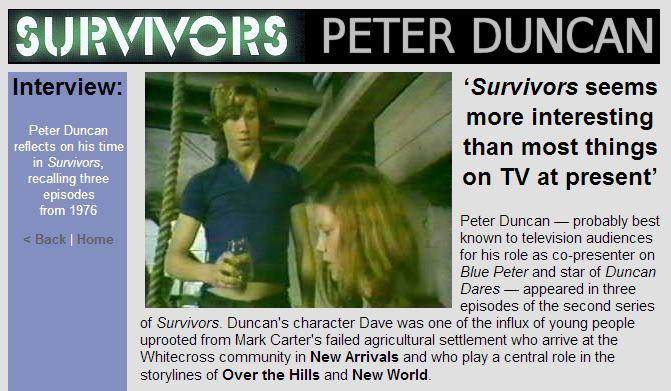 Peter Duncan - Survivors