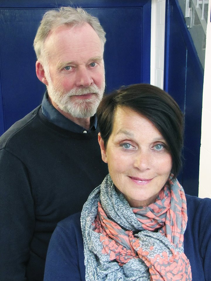 Richard Heffer and Carolyn Seymour at the Big Finish studios to record the third series of Survivors audio adventures