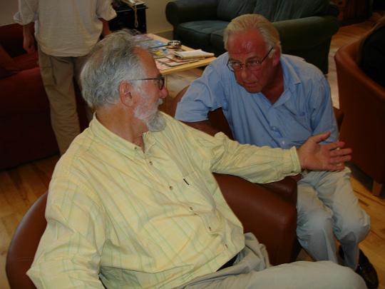 Survivors directors Tristan de Vere Cole and Peter Jefferies at the Survivors series three DVD studio day, August 4 2005