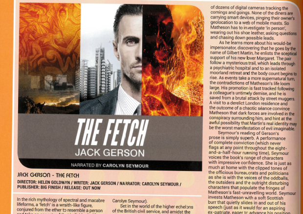 Review of The Fetch in the print edition of Starburst #436